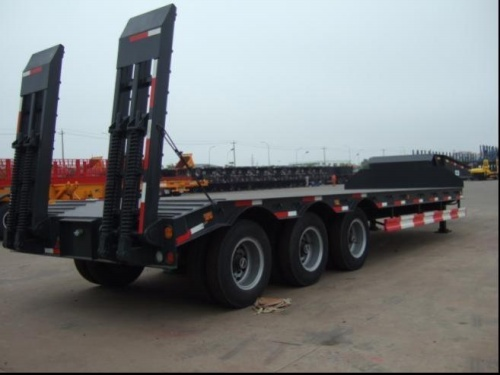 60T Low Bed Semi Trailer with 3 alex