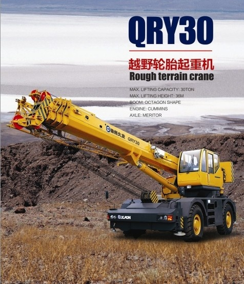 30T Rough terrain crane QRY30  30ton RT crane  brand new china