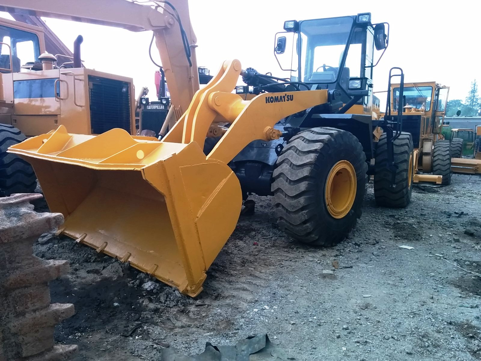 sell Used komatsu wheel loader mini loader shanghai china Supplier  Manufacturers  Exporters