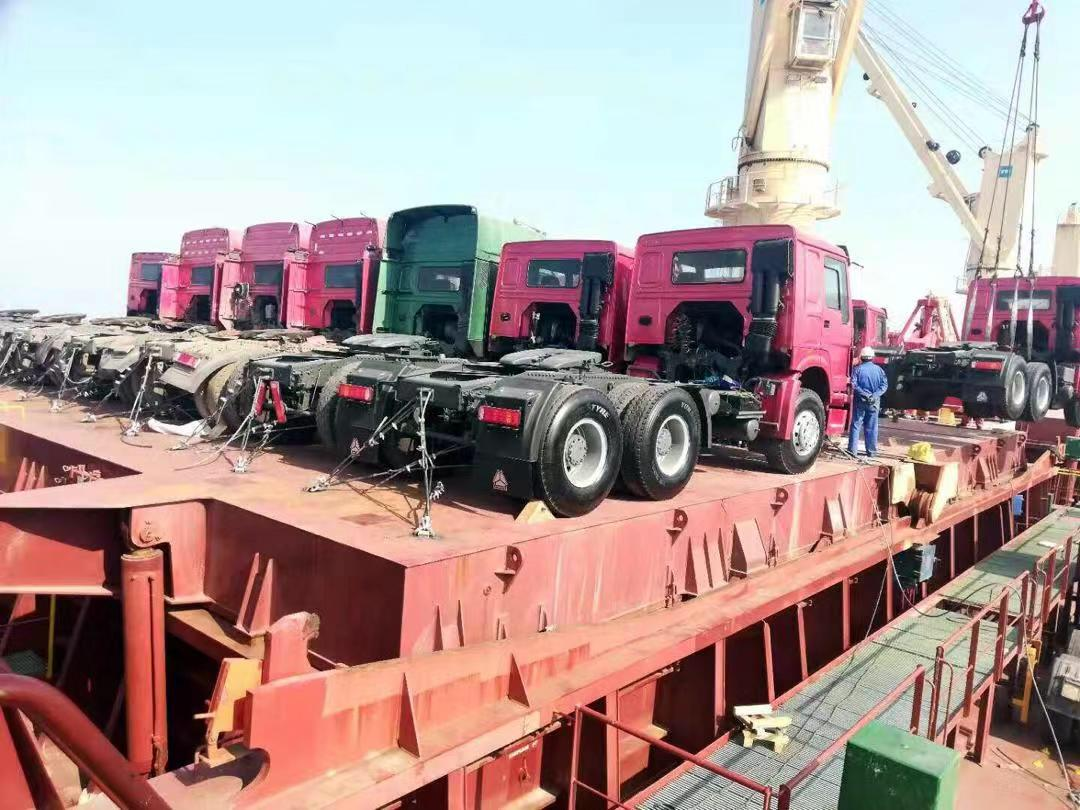 used howo tractor for shipping from shanghai