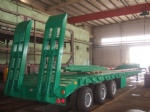 60 ton low bed Semi-trailer with tri-axle and extendable side