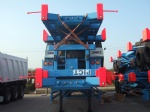 60T lowbed/lowbed truck trailer, 3 axle low bed trailer, excavator carrying trailer algeria Algiers egypt Cairo ethiopia Addis Ababa