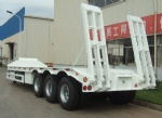40 ton low bed trailer,40 ft 3 axle low bed semi trailer  angola Luanda benin Porto-Novo