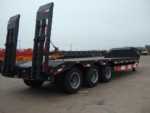 13m hydraulic axle low bed trailer,40 ft flatbed container semi trailer botswana Gaborone burkina-faso Ouagadougou