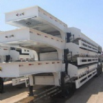 CIMC 4 axle low flat bed trailer 100t 90t 80T