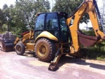 420E Caterpillar used backhoe front end loader