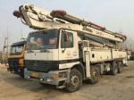 used concrete pump for sale Schwing 46 meter Benz truck