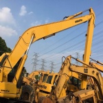 Used Excavator Komatsu PC200-6 with long boom made in japan