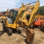Used mini Excavator Komatsu PC55MR-2 with dozer made in japan