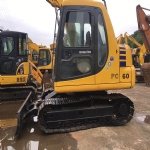 Used mini Excavator Komatsu PC60 with dozer made in japan